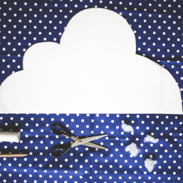 #4 | poduszka chmurka tutorial | baby cloud pillow diy tutorial |