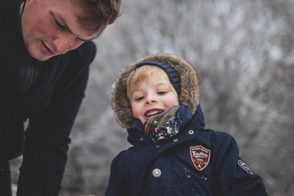 fotografia dzieci zimą warszawa, fotografia zimowa